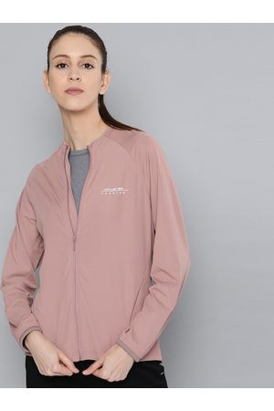 HRX by Hrithik Roshan Women Mauve Shadows Solid Rapid-Dry Antimicrobial Running Jacket