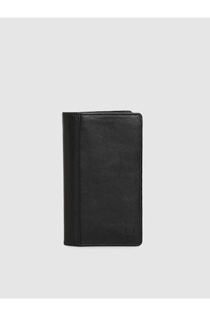 Hidesign Men Black Solid Leather Card Holder
