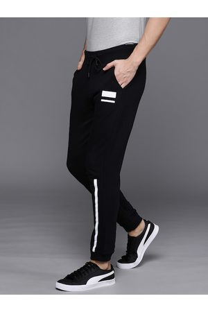 WROGN Men Black Slim Fit Solid Joggers