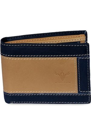 Krosshorn Men Tan Solid Two Fold Leather Wallet