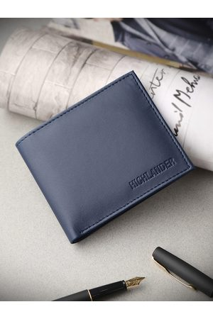 Highlander Men Navy Blue Solid Two Fold Wallet