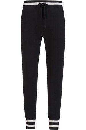 Dolce & Gabbana Striped drawstring track pants