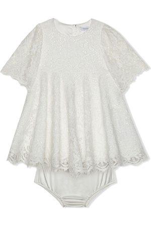 Dolce & Gabbana Short-sleeved lace dress