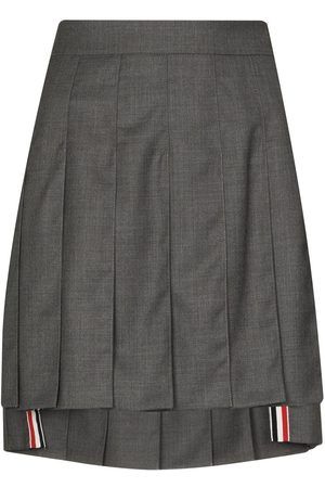 Thom Browne DROPPED BACK MINI PLEATED SKIRT IN SUPER 120'S TWILL