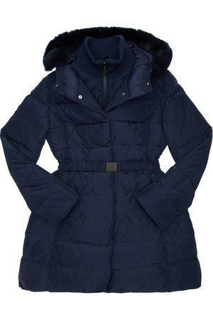 MONNALISA Hooded Nylon Down Coat