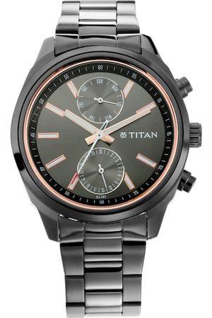Titan Men Black Analogue Watch NM1733NM01
