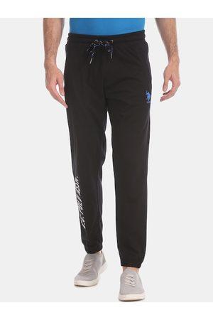 Ralph Lauren Men Black Track Pants Men Black Solid Joggers