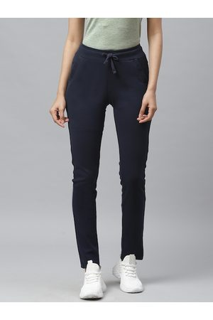 Cayman Women Navy Blue Solid Track Pants