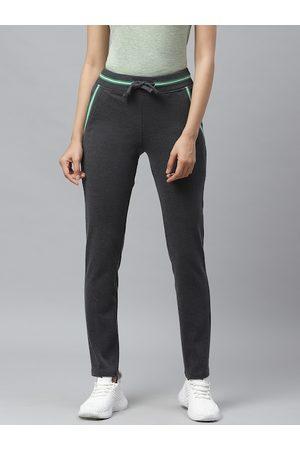 Cayman Women Charcoal Grey Solid Track Pants