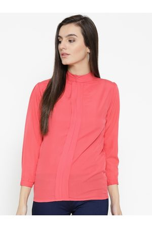 U&F Women Pink Solid Shirt Style Top