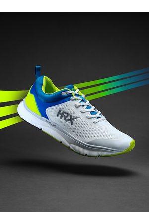 HRX Men White And Fluorescent Green N-FLUX Running Shoe