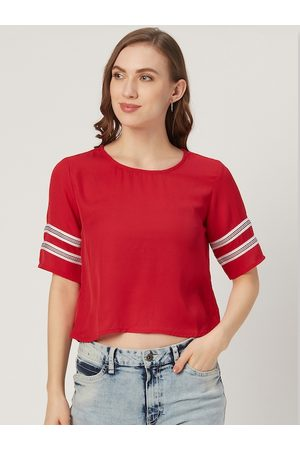 Style Quotient Women Red Solid Top