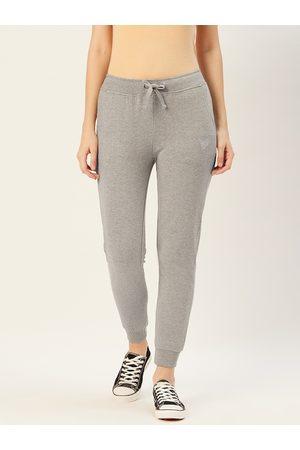 Sera Women Grey Melange Solid Solid Joggers