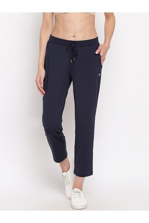 ENAMORA Women Navy Blue Solid Track Pants