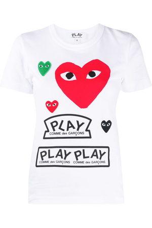 Comme des Garçons Women Short Sleeve - Short-sleeved heart print T-shirt