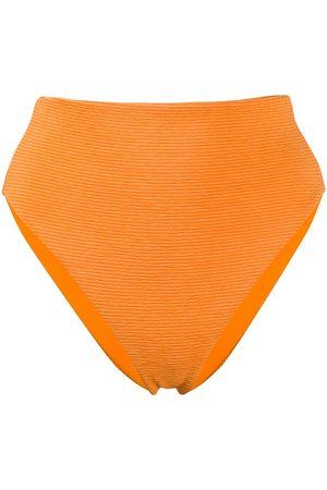 Mara Hoffman Stripe texture high leg bikini bottom