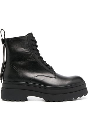 RED Valentino RED(V) Lyered combat boots