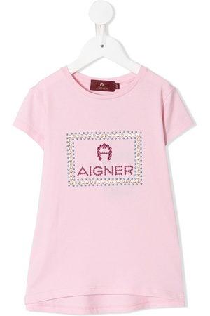 Aigner Rhinestone-embellished logo T-shirt