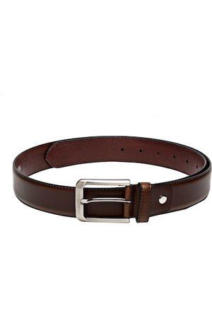 Carlton London Men Brown Solid Leather Belt