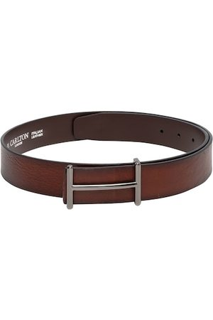 Carlton London Men Brown Solid Belt