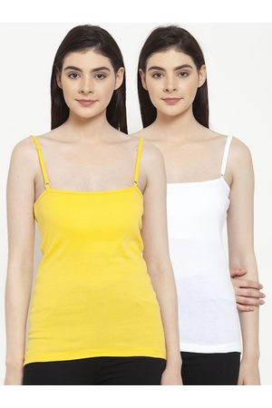 Friskers Women Pack Of 2 Solid Camisoles E-02-06-S