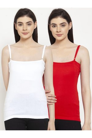 Friskers Women Pack Of 2 Solid Camisoles E-02-03-S