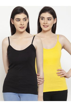 Friskers Women Pack Of 2 Solid Camisoles H-01-06-S