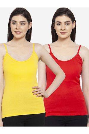 Friskers Women Pack of 2 Solid Camisoles H-03-06-S