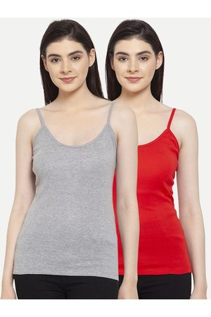 Friskers Women Pack Of 2 Solid Camisoles H-03-04-S