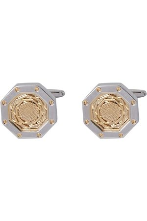 shaze Gold-Toned & Silver-Toned Quirky Cufflinks