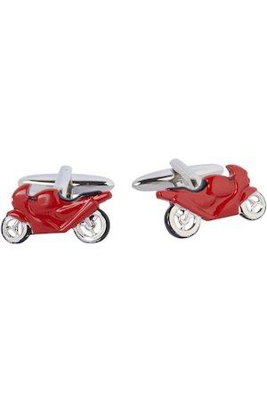 shaze Red Quirky Bike Cufflinks