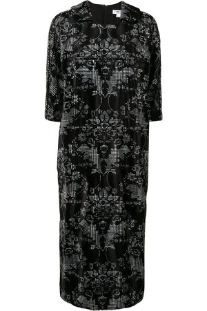 Comme des Garçons Baroque-check print square neck shift dress