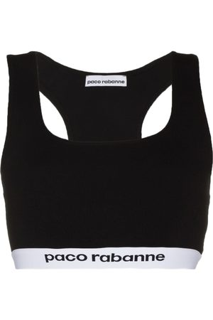Paco rabanne Logo-tape sports bra