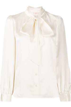 Tory Burch Pussy-bow silk blouse