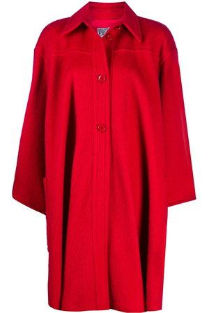 Gianfranco Ferré 1980s wool cape coat