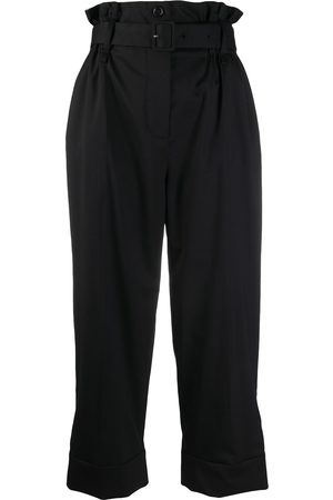 Simone Rocha Belted high-waisted trousers