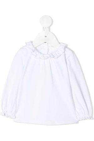 KNOT Shirts - Sori ruffle-trimmed blouse