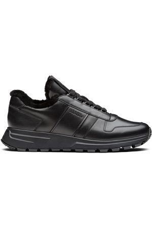 Prada Men Sneakers - Panelled low-top sneakers