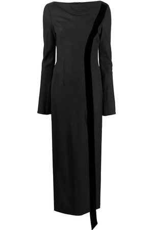 Gianfranco Ferré 1990s bell sleeves side-slit dress
