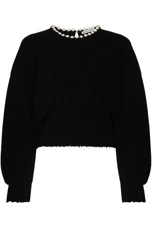 Alexander Wang Pearl necklace sweater