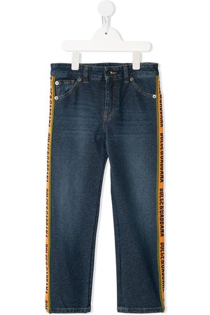 Dolce & Gabbana Boys Slim - Logo detail slim-fit jeans