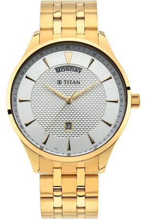 Titan Men White Analogue Watch