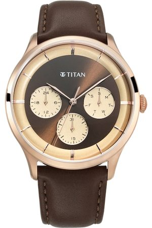 Titan Men Brown Analogue Watch