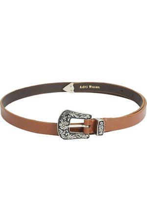 Aditi Wasan Women Tan Brown Solid Leather Belt