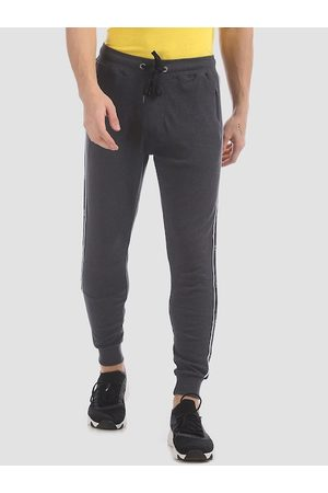 Aeropostale Men Charcoal Grey Solid Straight-Fit Joggers