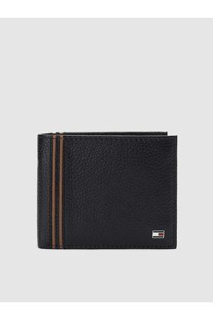 Tommy Hilfiger Men Black Solid Genuine Leather Two Fold Wallet