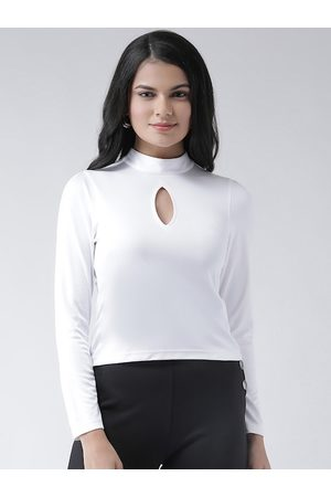 Texco Women White Solid Top