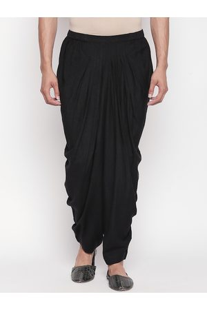 Pantaloons Men Black Solid Salwar