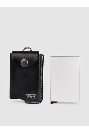 Levi's Men Black Solid Leather Card Holder
