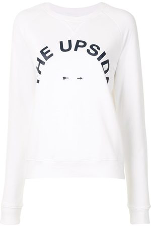 The Upside Women Sweatshirts - Logo-print raglan sweatshirt